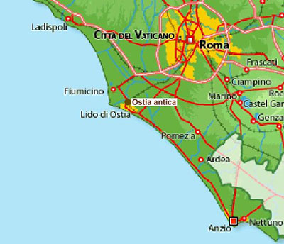 How The Coastline Of Ostia Changed Over The Centuries Roman Ports