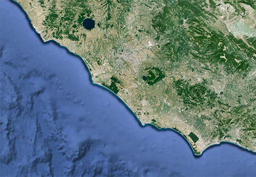 How the coastline of Ostia changed over the centuries