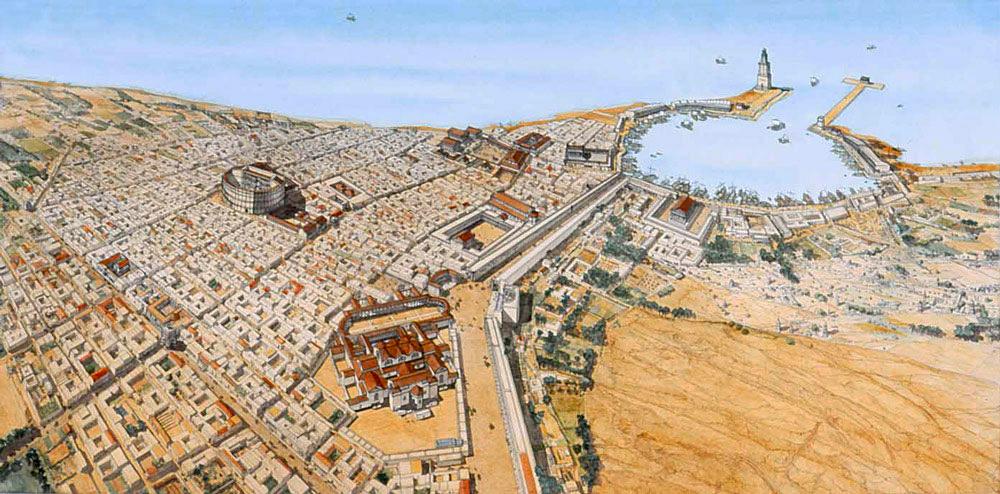 Leptis Magna Haupttor Nach Afrika Englisch Roman Ports