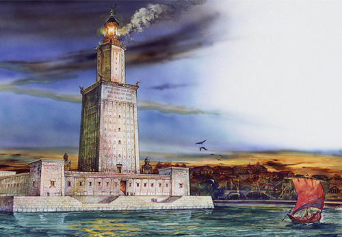 Roman Lighthouses in the  Mediterranean Sea