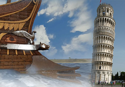 The lost harbour of Pisa